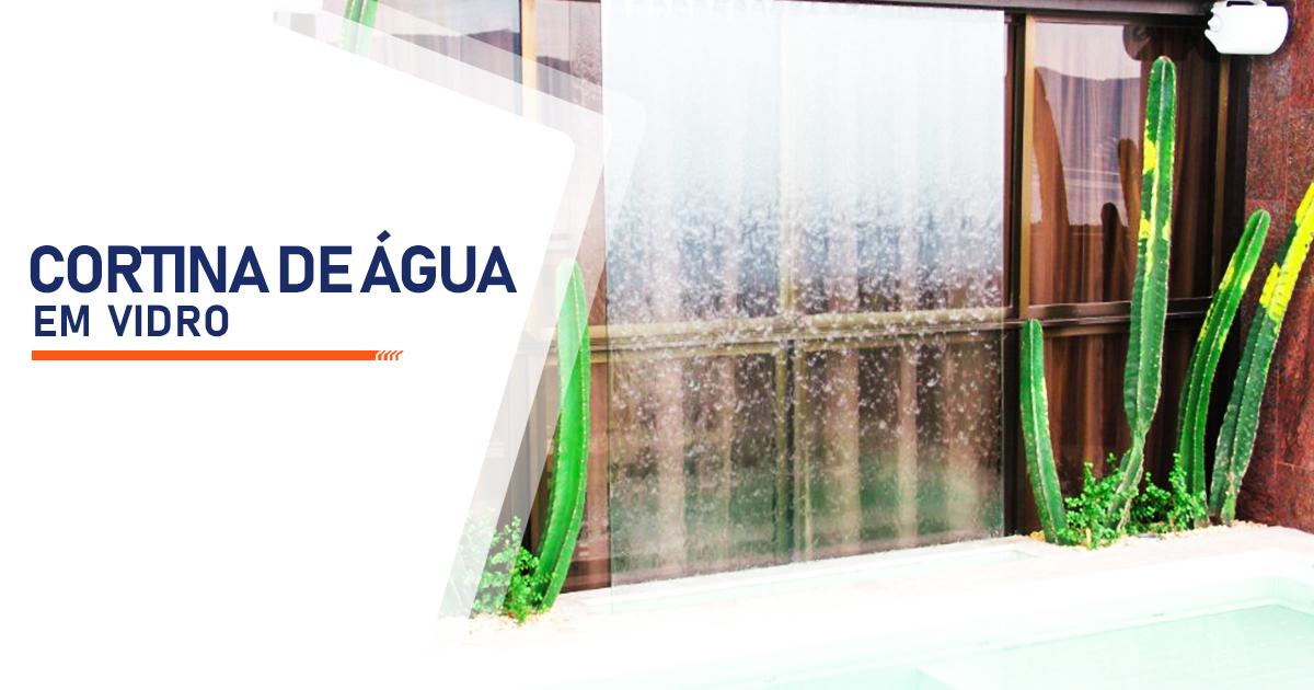 Cortina de Agua em Vidro Mongaguá