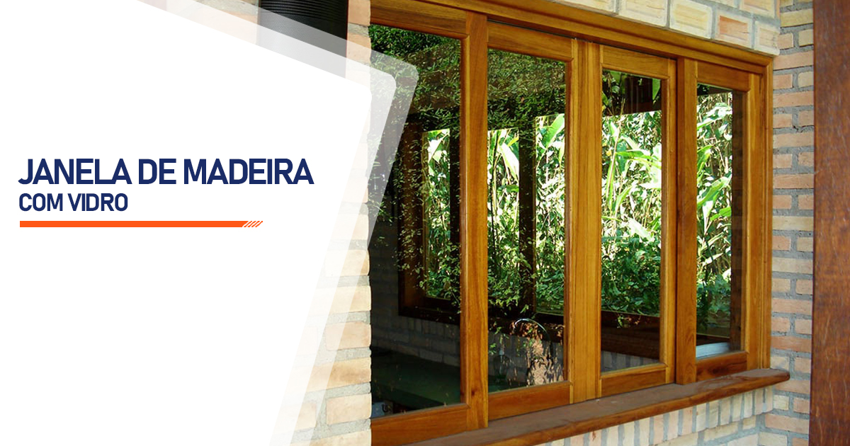 Janela De Madeira Com Vidro São Vicente