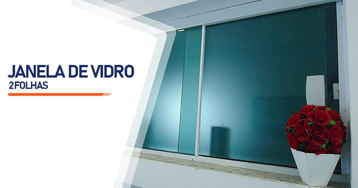 Janela De Vidro 2 Folhas Bertioga