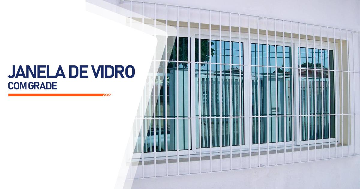 Janela De Vidro Com Grade Peruíbe
