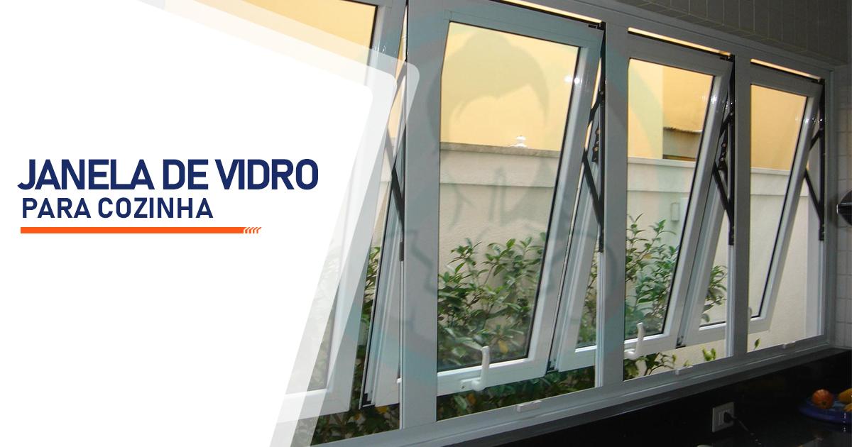 Janela de Vidro para Cozinha São Vicente