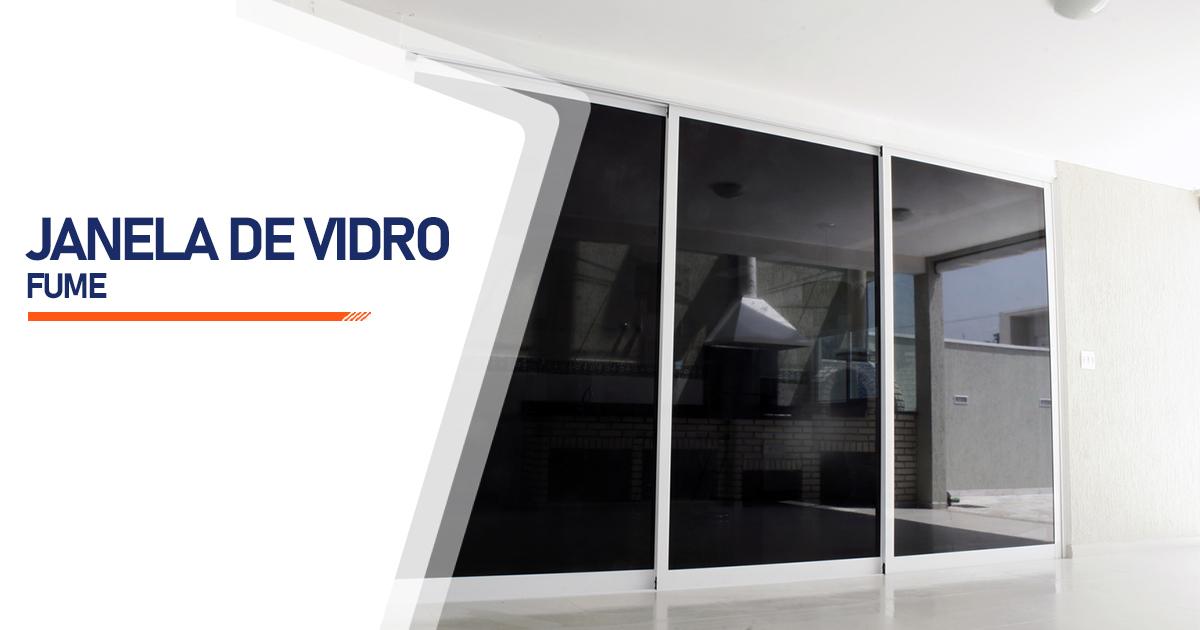 Janela De Vidro Temperado Fume Peruíbe