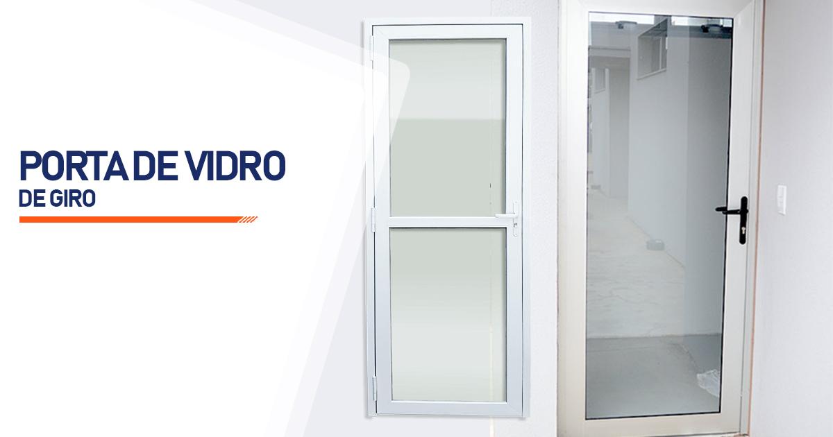 Porta De Giro De Vidro Bertioga