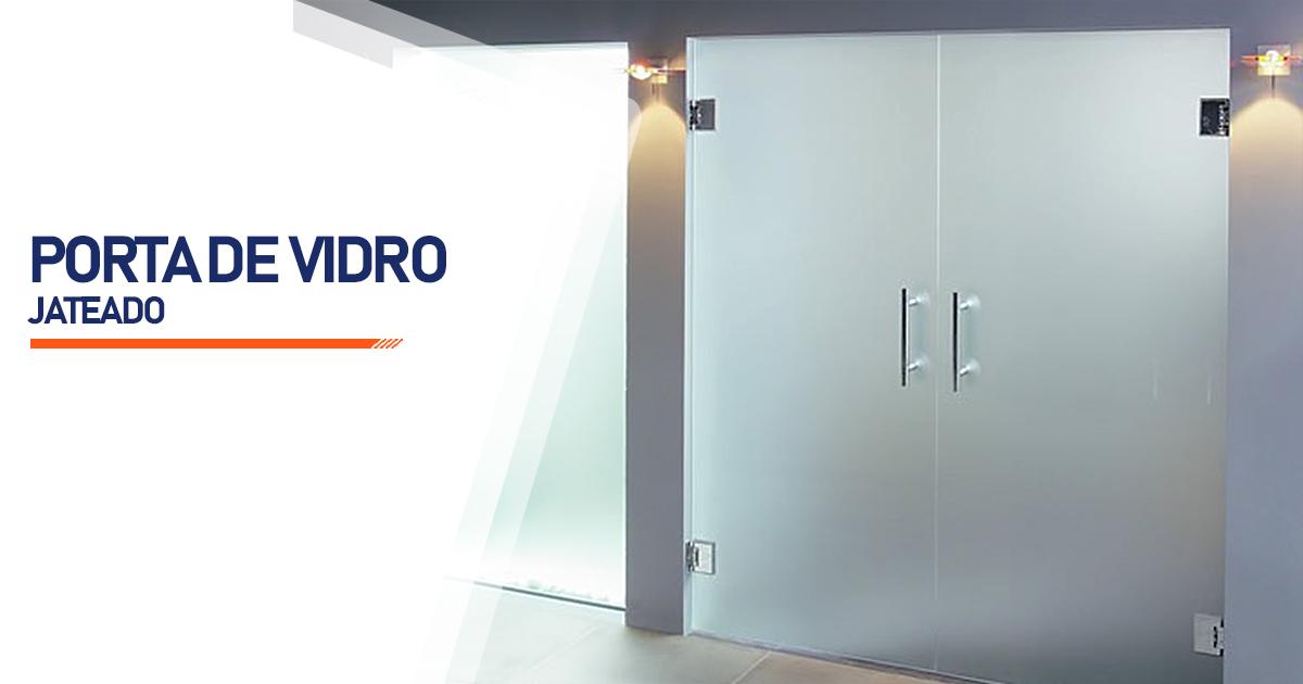 Porta De Vidro Jateado Guarujá
