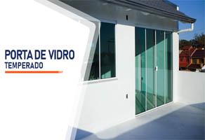 Porta de Vidro Temperado Santos
