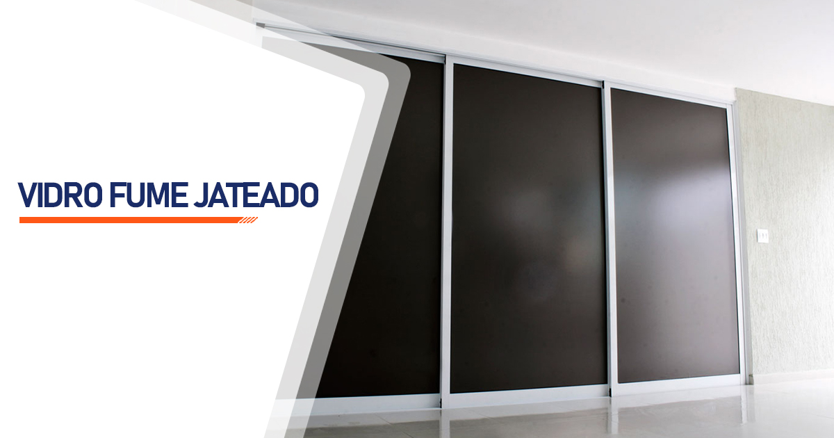 Vidro Fume Jateado Guarujá