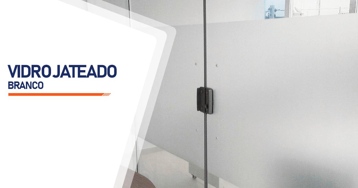 Vidro Jateado Branco Praia Grande